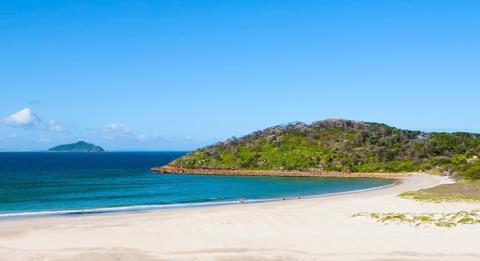 史蒂芬斯港(Port Stephens)的海灘美景