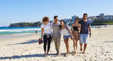 Friends on the Beach,邦迪 (Bondi)