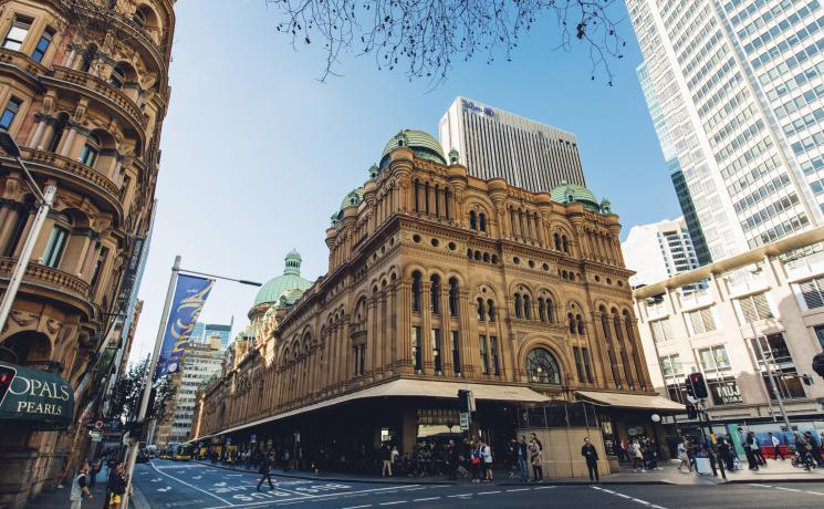 The grand shopping arcade, the Queen Victoria Building, Sydney