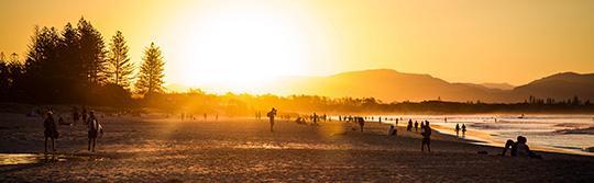 日落,拜倫灣(Byron Bay)